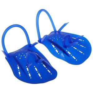 Лопатки для плавания, размер М синий