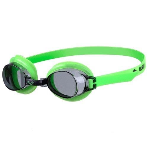 Очки Arena BUBBLE 3 JR (зелёные, оранжевые)