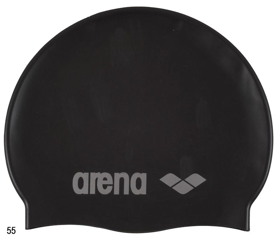 Шапочка для плавания Arena CLASSIC SILICONE JR (зелёная, чёрная)
