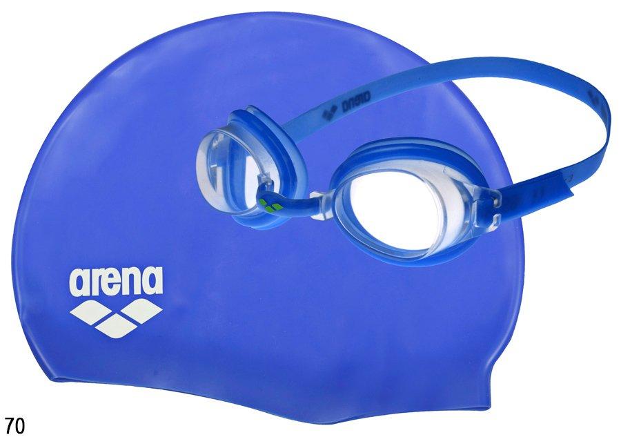 Набор очки ARENA Zoom X-FIT + шапочка Classic Silicone розовый, синий