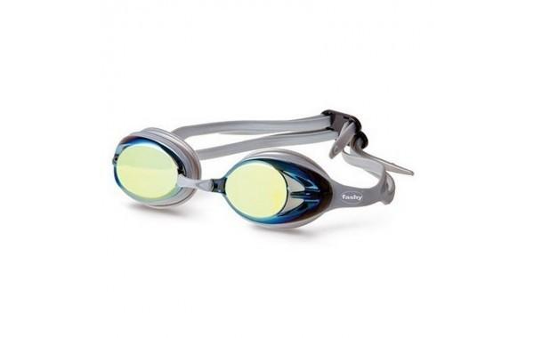 Очки для плавания зеркальные Fashy Power Mirror Pioneer (желтые и серебряные линзы)