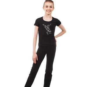 Чёрная футболка Solo Серебристая танцовщица BA652.0