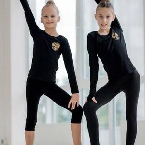 Спортивная кофта для гимнастики Россия с дырочкой под палец