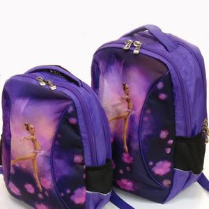 Рюкзак для гимнастики разных размеров от 9 лет - Сиренево-зеленый-чёрный, L