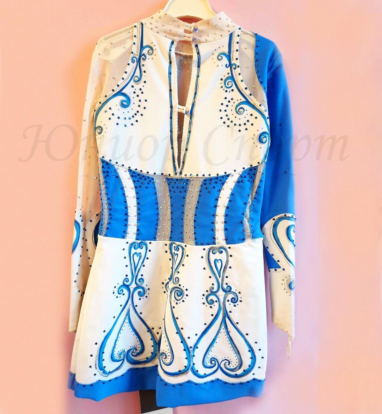 Платье б/у для фигурного катания рост от 128 см