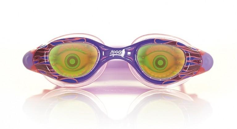 Оригинальные очки для плавания с рисунком ZOGGS Sea Demon Junior (6-14 лет)