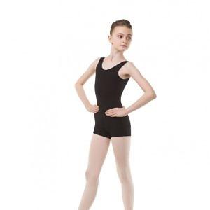 Комбинезон-майка для гимнастики и танцев FD800 чёрный