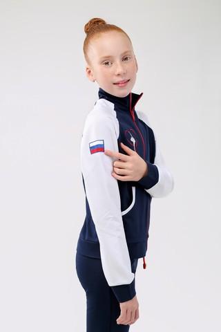 Спортивный костюм с эмблемой Гимнастка на груди и флагом на рукаве