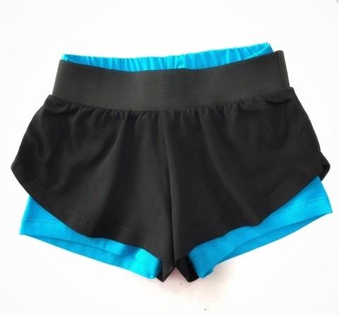 Двойные спортивные шорты (свободные+цветные)