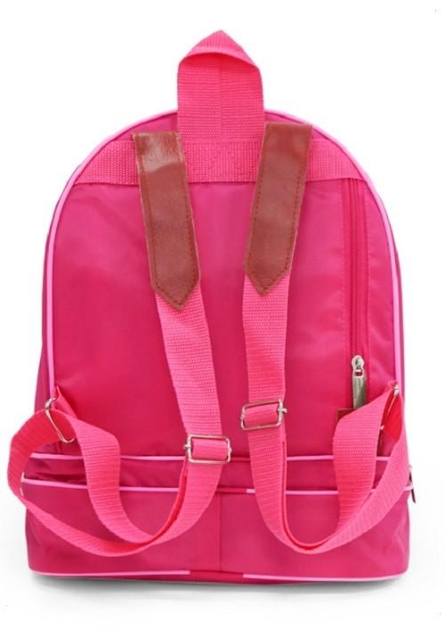 Рюкзак с балериной розовый с синей вышивкой