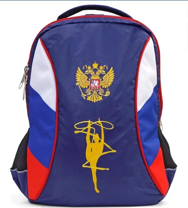 Рюкзак триколор с вышивкой