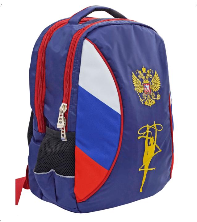 Рюкзак для гимнастики с гербом и гимнасткой (6-9 лет)